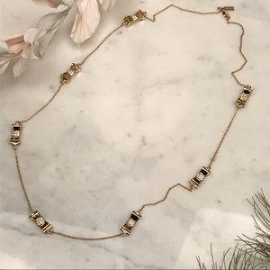 Kate Spade Take A Bow Necklace In Gold